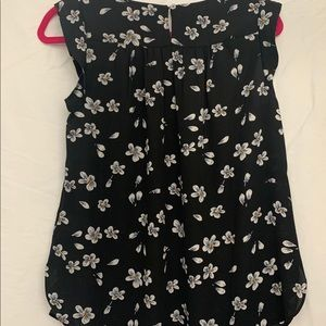 Philosophy Black Floral Blouse, Size Small, NWT